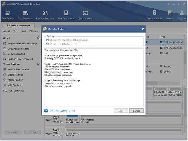 MiniTool Partition Wizard Free Edition 12.5