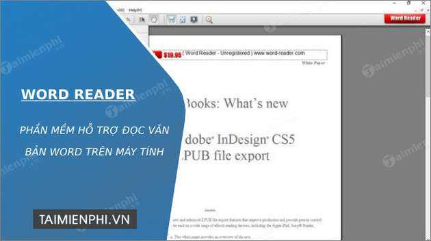Word Reader - Phần mềm hỗ trợ đọc file Word -taimienphi.vn